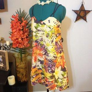 Jessica Simpson tropical floral dress